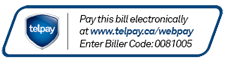 TelPay - Pay this Bill Electronically - Enter Biller Code: 0081005